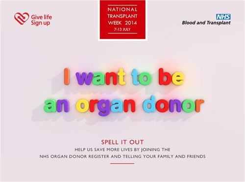 i want to be an organ donor