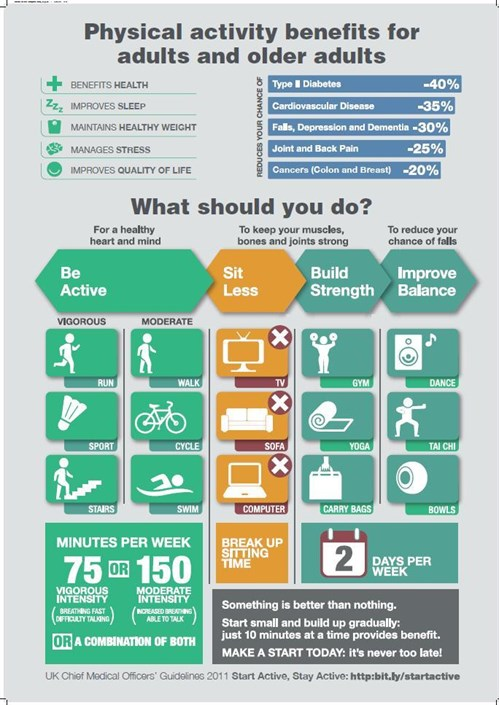 Physical Activity infographic