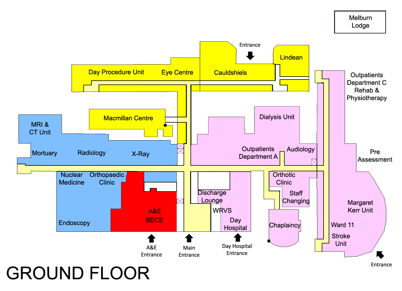 100 Hospital Floor Plan Design Map And